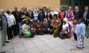 All the group members with the Mayor and the Mayoress